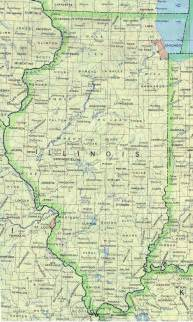 Map Of Illinois With Cities illinois base map