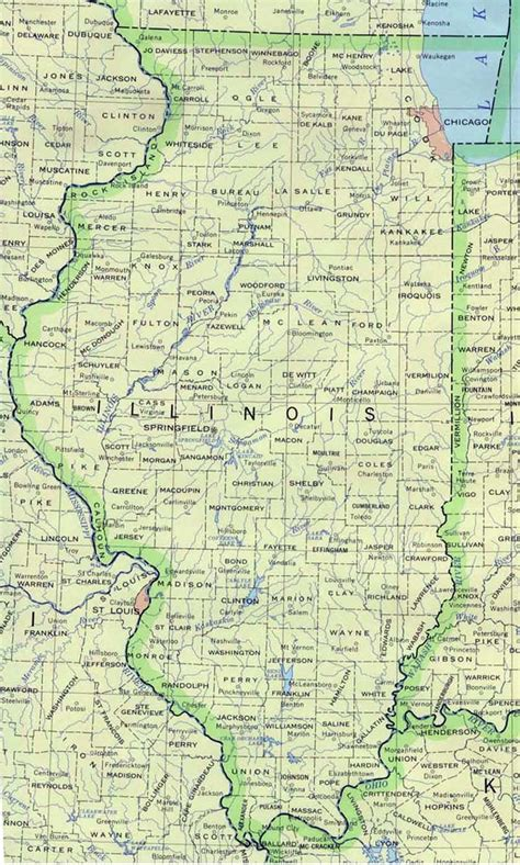 map of illinois illinois map by county with cities