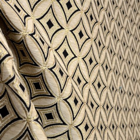 black and gold curtain fabric ryman onyx black beige metallic gold diamond fabric