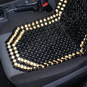 Beaded Seat Cover For Car Black Wooden Bead Beaded Car Taxi Front Seat