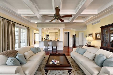 Coffered Ceiling With Ceiling Fan Coffered Ceiling With Fan Fr