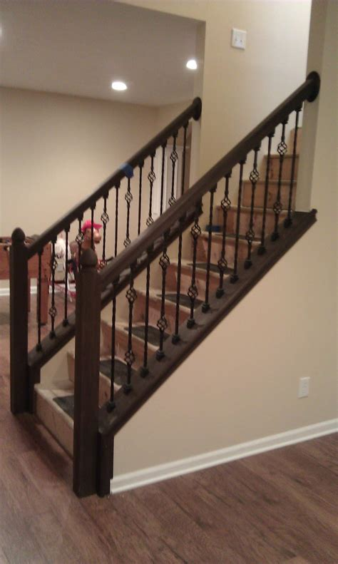 Stair Banister Spindles by Doug Bolt Woodworking New Stair Railing