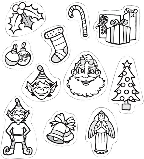 christmas decorations cutouts free ornaments card pencil and in color ornaments card