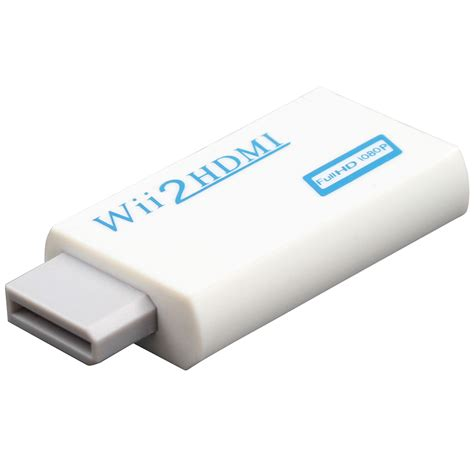 Wii To Hdmi 1080p Converter Adapter Murah white for wii to hdmi wii2hdmi adapter converter hd 1080p output upscaling 3 5mm audio
