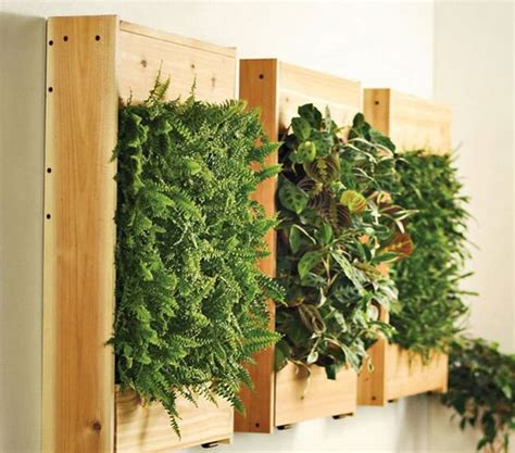Vertical Wall Garden Kits Cool Diy Green Living Wall Projects For Your Home