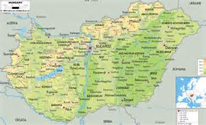map of all cities large detailed physical map of hungary with all cities