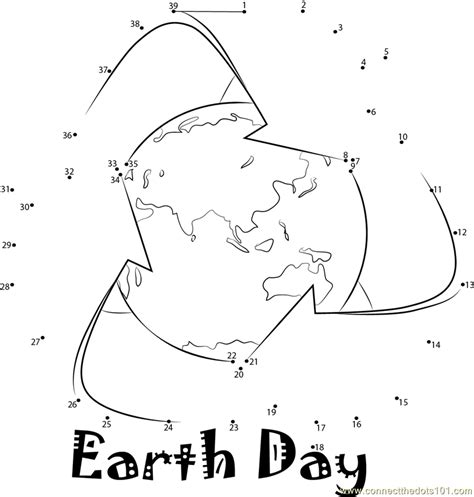 Dot To Dot Printables Earth Day | connect the dots earth day holidays gt earth day dot to