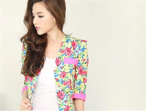 blazer wanita korea bunga terbaru blazer wanita korea bunga bunga model terbaru jual
