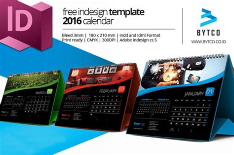 4 Free 2016 Calendar Template Designs Creative Bloq Indesign Calendar Template