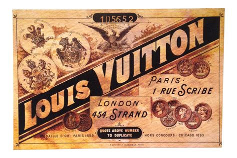 Louis Vuitton Snapshot 2776 vintage louis vuitton print chairish