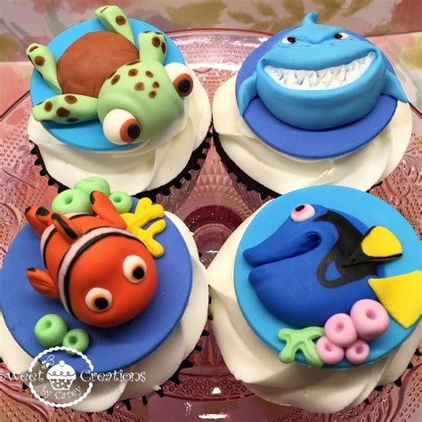 fondant 3d finding nemo finding dory fish and friends the sea inspired cupcake toppers