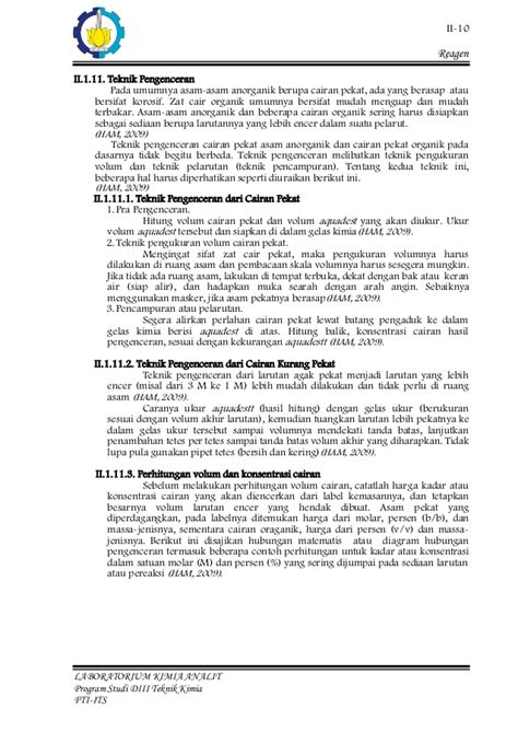 laporan praktikum membuat reagen laporan praktikum reagen