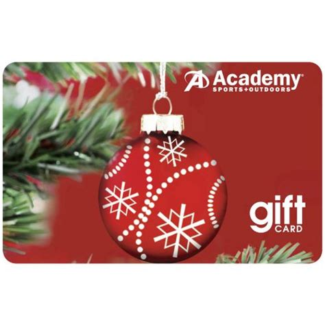 Academy Gift Cards - academy holiday gift card red ornament design academy