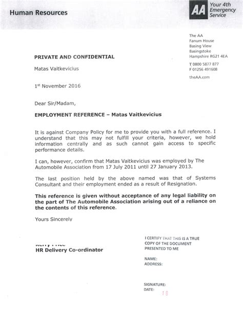 Reference Letter From Employer Australia reference letter from employer to embassy docoments ojazlink
