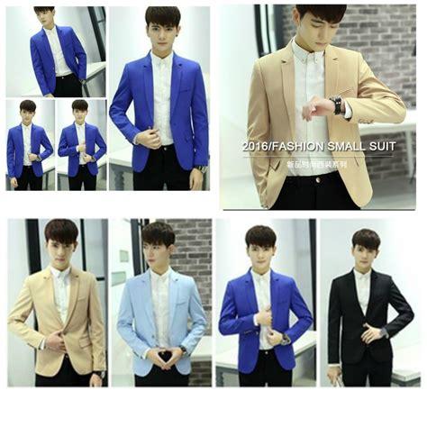 Fashion Pria Jas Pria Blue jaket pria korea skyblue blazer jyd385602skyblue