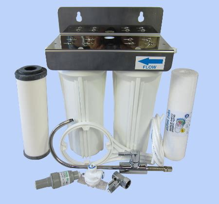 under bench water filter system twin underbench doulton ultracarb sub micron 10 inch