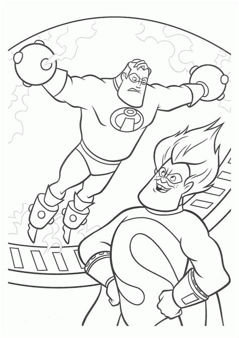 incredibles logo coloring page coloring pages