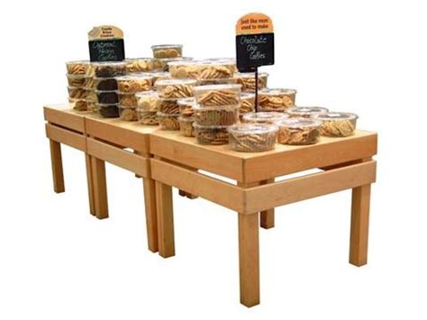 Custom Table Top Bakery Tables Cms Display Fixtures