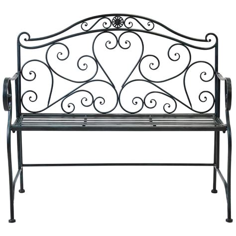 wrought iron patio bench bentley garden white wrought iron bench buydirect4u
