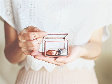 Wedding Band Box by Ring Bearer Box Wedding Band Box Glass Box Engagement Ring