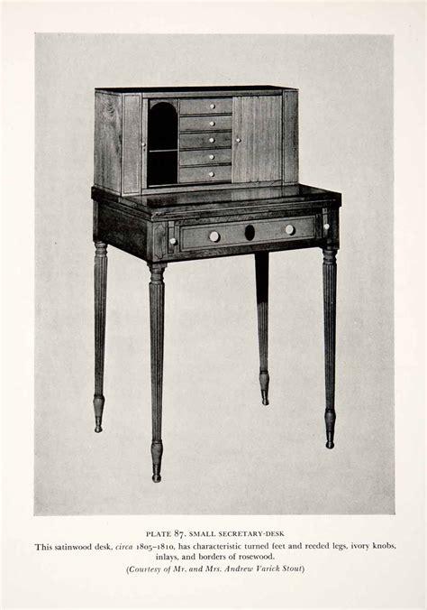 Duncan Phyfe Desk by 1939 Print Duncan Phyfe Desk Cabinet Craftsman