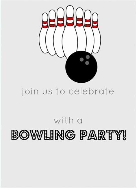 7 free sle bowling game invitation templates