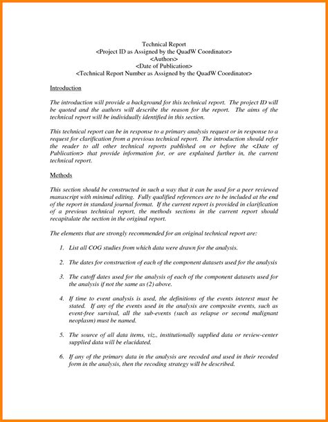 7  technical report template   Introduction Letter
