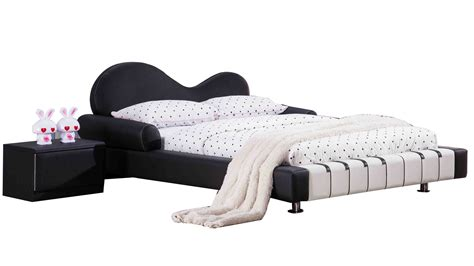 piano bed piano leather upholstered black and white kid s twin bed
