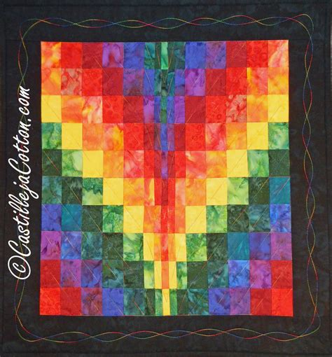 E Quilt Patterns by Bargello Quilt Epattern 4718 1 Rainbow Wall Quilt Pattern