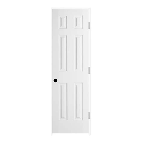 6 Panel White Interior Door Jeld Wen 24 In X 80 In Molded Textured 6 Panel Primed White Solid Composite Single