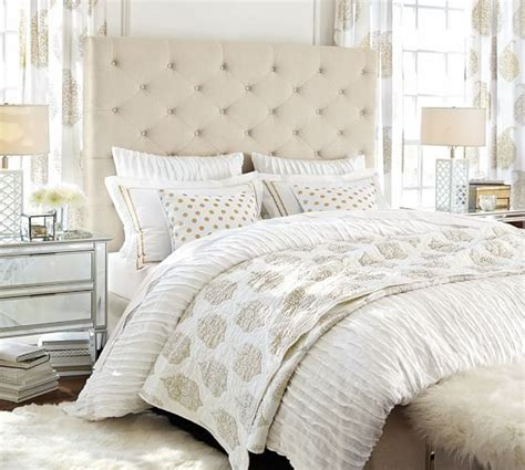 lorraine tufted headboard lorraine tufted tall bed headboard pottery barn
