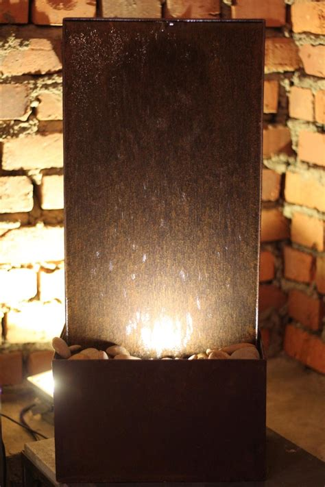 indoor kupfer brunnen zimmerbrunnen modern zimmerbrunnen modern mit beleuchtung