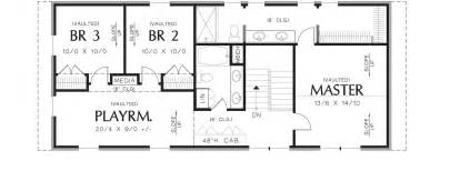 Free Floor Plans For Homes Thomaston 3152 4 Bedrooms And 3 Baths The House Designers