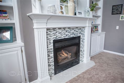 fireplace mosaic tile black mantel search