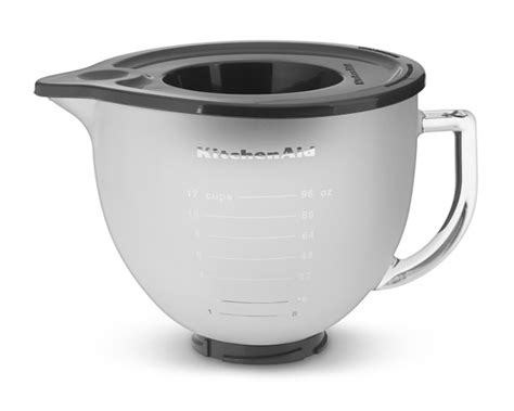 kitchenaid 174 5 qt frosted glass bowl with lid williams