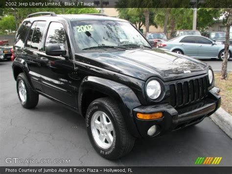 black jeep liberty 2002 black 2002 jeep liberty limited taupe interior