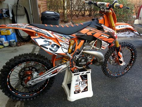 new 2015 motocross my new 2015 ktm 300sx my old 13 300sx and my 07 rm250