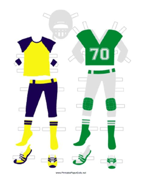 How To Make A Paper Football Player - green football player paper doll