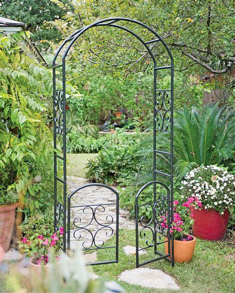 Black Metal Garden Trellis Garden Seat Cedar Seat For The Rosedale Arch Gardener S