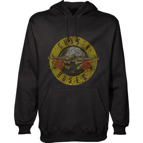 Hoodie Guns N Roses Anime aloud classic logo black hoodie guns n roses