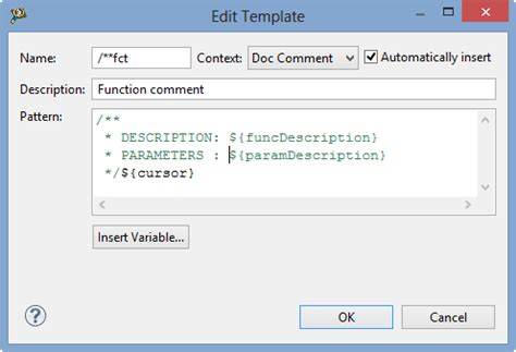 download free eclipse doxygen comment template