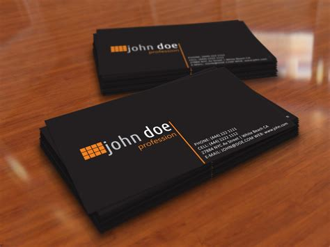 personal cards templates simple black personal business card template by