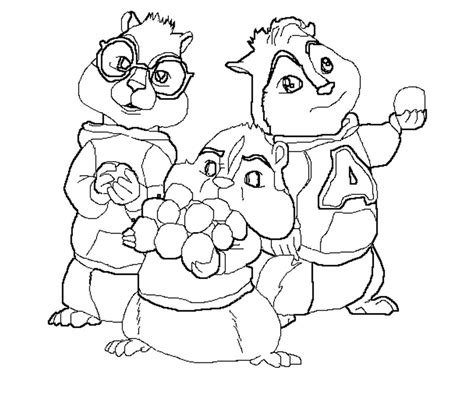 alvin and the chipmunks the squeakquel coloring pages az