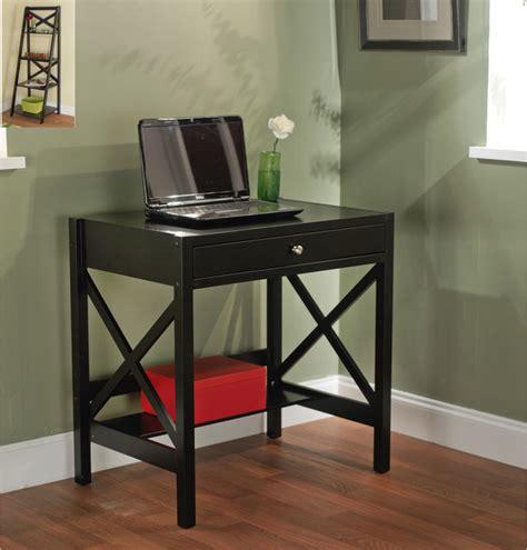simple living black x writing desk contemporary desks
