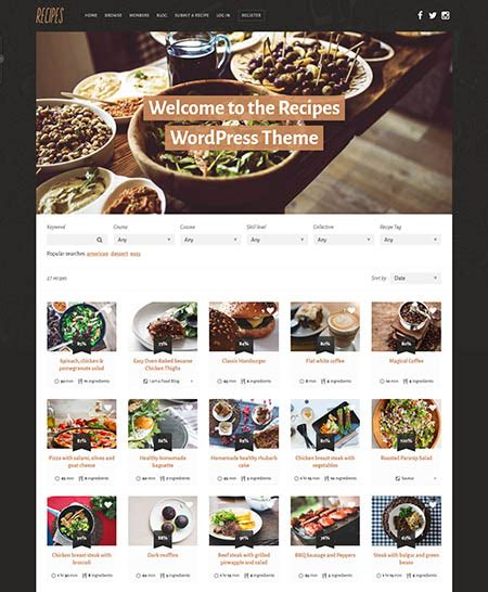 themes wordpress food 13 best wordpress food blog magazine themes with