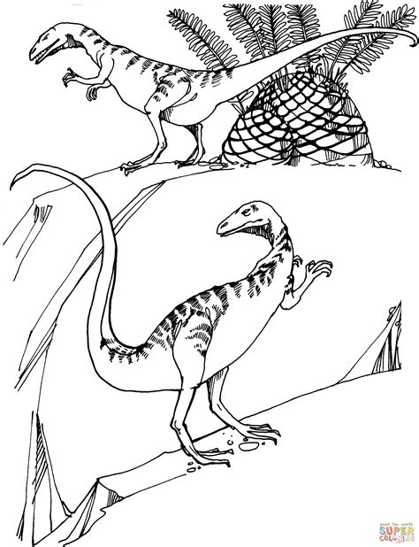 troodon coloring page coloring home