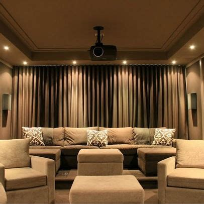 home theater curtains media room design media rooms pinterest