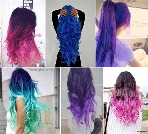 cute hairstyles for dyed hair how to diy cute girls dip dyed hairstyle 3