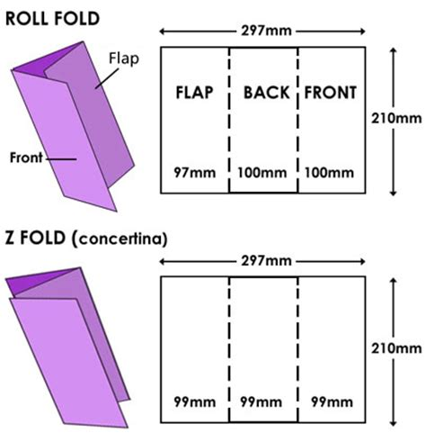 How To Fold A Paper In Three - what is a tri fold leaflet print and marketing