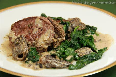 cuisiner morilles s馗h馥s m 233 daillons de boeuf aux morilles d apr 232 s oliver